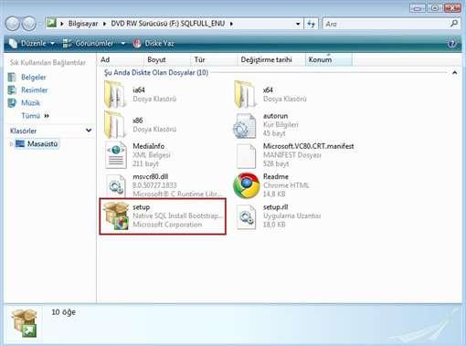 SQL 2008 Kurulum Resimli Anlatım